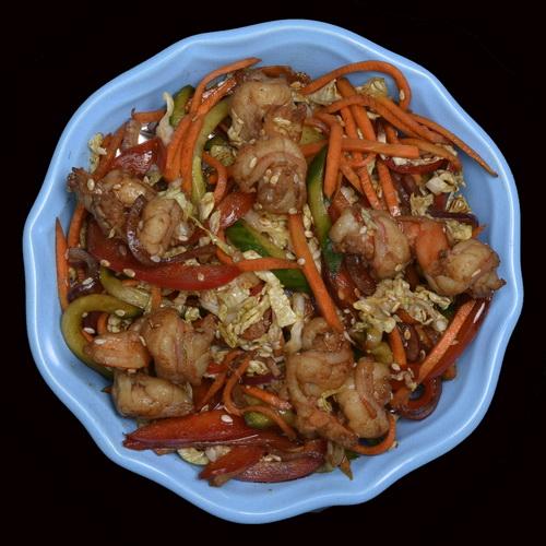 Тайский салат с креветкой