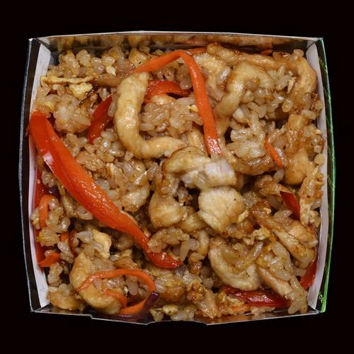 Рис с курицей в устричном соусе WOK