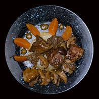 Телятина Шиитаке под цитрусовым соусом