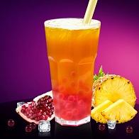 Фруктовый Bubble Tea Тропические фрукты